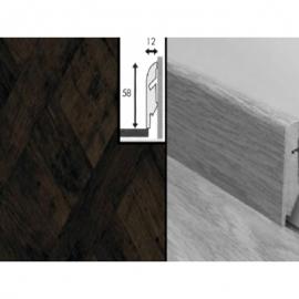 Плинтус для пола МДФ Квик Степ 58x12x2400 мм QSSKR 01549 Версаль темный