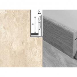 Плинтус для пола МДФ Квик Степ 58x12x2400 мм QSSKR 01556 Травертин Tivoli