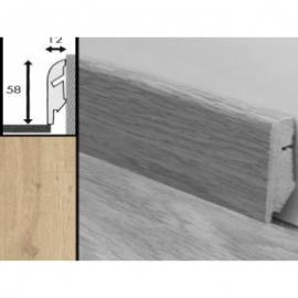 Плинтус для пола МДФ Квик Степ 58x12x2400 мм QSSKR 01853 Дуб песочный