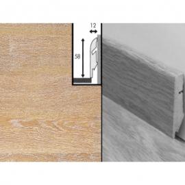 Плинтус для пола МДФ Квик Степ 58x12x2400 мм QSSKR 01896 Доска дубовая отбеленная