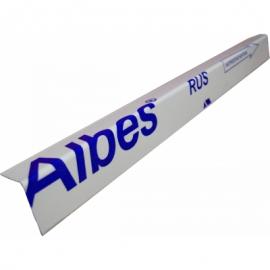 Пристенный уголок стальной Албес 19х24х3000мм (цвет белый)